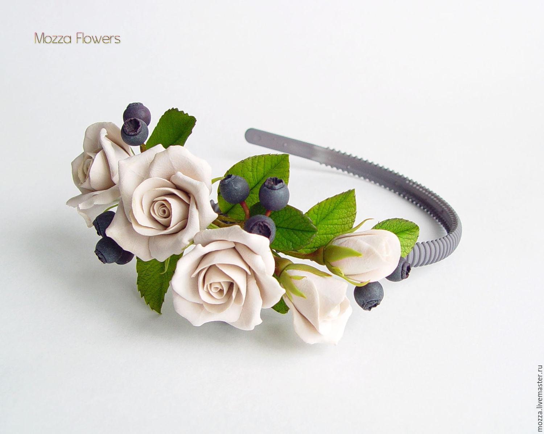 Ободки цветы из полимерной глины мастер класс