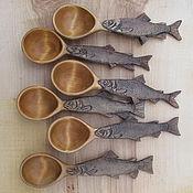 Посуда ручной работы. Ярмарка Мастеров - ручная работа Ложки для сибирских и дальневосточных рыбаков. Handmade.