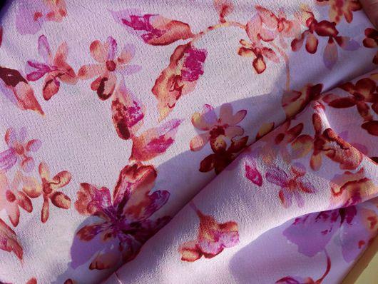 """Шитье ручной работы. Ярмарка Мастеров - ручная работа. Купить Плательная ткань """"Цветочная"""". Handmade. Плательная, ткань, весенний принт"""