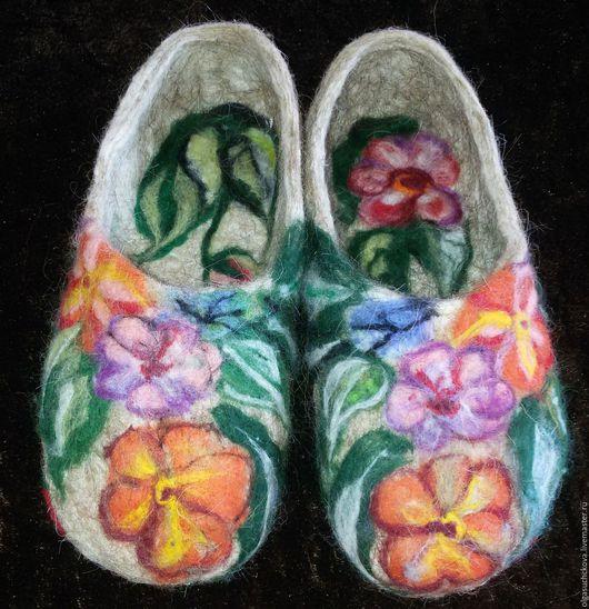 Обувь ручной работы. Ярмарка Мастеров - ручная работа. Купить Балетки ручной работы. Handmade. Оливковый, шерсть меринос
