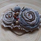 Украшения handmade. Livemaster - original item Textile brooch. Handmade.