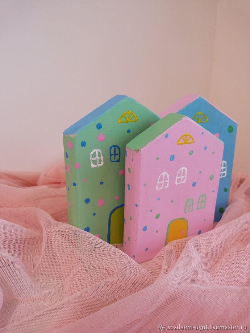 Домики интерьерные дерево розовый голубой салатовый, Домики, Орск,  Фото №1