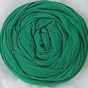 Аксессуары handmade. Livemaster - original item Light emerald scarf-scarf made of fine cotton. Handmade.