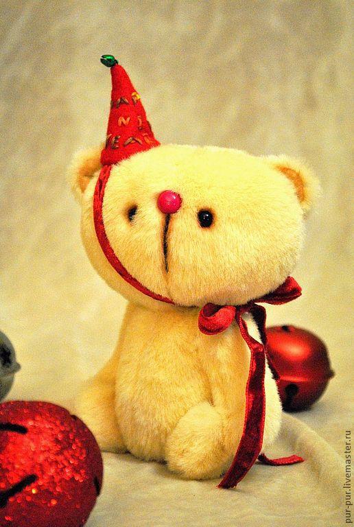 Мишки Тедди ручной работы. Ярмарка Мастеров - ручная работа. Купить Яйя (новогодний милаха:-)). Handmade. Желтый