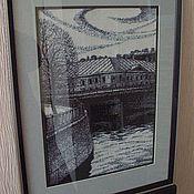 """Картины и панно ручной работы. Ярмарка Мастеров - ручная работа """"Питер"""" вышитая картина. Handmade."""