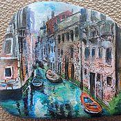 Камни ручной работы. Ярмарка Мастеров - ручная работа Картина на гальке Венеция. Handmade.