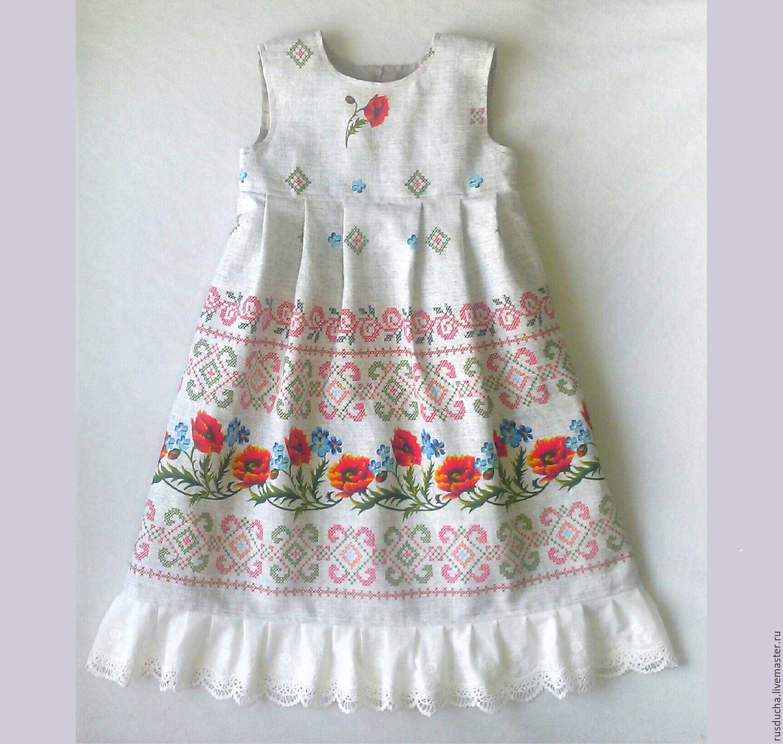 Платье на девочку с маками