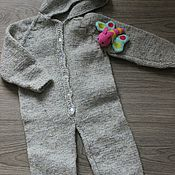 Работы для детей, handmade. Livemaster - original item Knitted Romper hooded. Handmade.