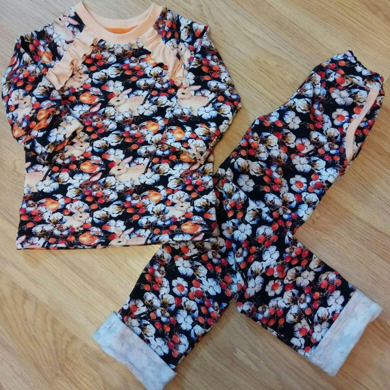 """Комплект для девочки """"Цветы хлопка"""", Комплекты одежды для малышей, Железнодорожный,  Фото №1"""