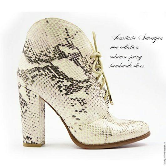 Обувь ручной работы. Ярмарка Мастеров - ручная работа. Купить ботинки. Handmade. Комбинированный, под заказ, ботинки, ботинки женские