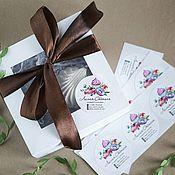 Этикетки ручной работы. Ярмарка Мастеров - ручная работа Наклейки цветные на упаковку. Handmade.