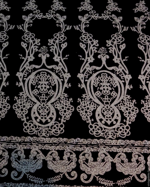 Вискозный трикотаж - серые цветы на черном, Кольца, Самара, Фото №1