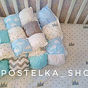 Работы для детей, ручной работы. Ярмарка Мастеров - ручная работа Комплект в кроватку. Handmade.