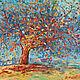 """Пейзаж ручной работы. Ярмарка Мастеров - ручная работа. Купить Картина маслом. Пейзаж """"Яблоня изобилия"""". Handmade. Дерево"""