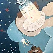 """Картины и панно ручной работы. Ярмарка Мастеров - ручная работа Картина маслом """"Зима идёт"""". Handmade."""