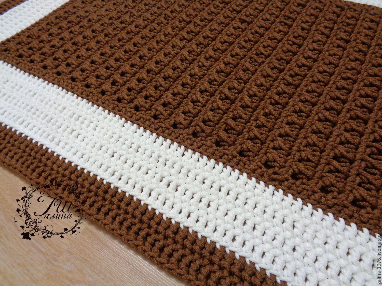 Вязание покрывала из шнура 76