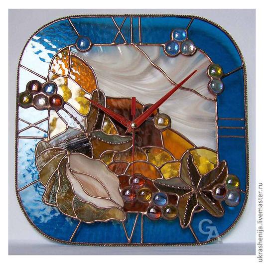 """Часы для дома ручной работы. Ярмарка Мастеров - ручная работа. Купить часы настенные """"Море"""". Handmade. Часы, часы необычные"""