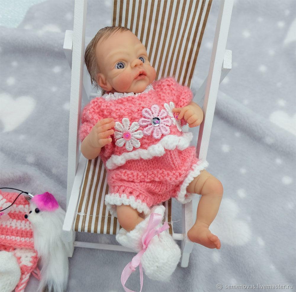 Девочка из гибкого полиуретана с мягким телом 22 см, Куклы Reborn, Москва,  Фото №1