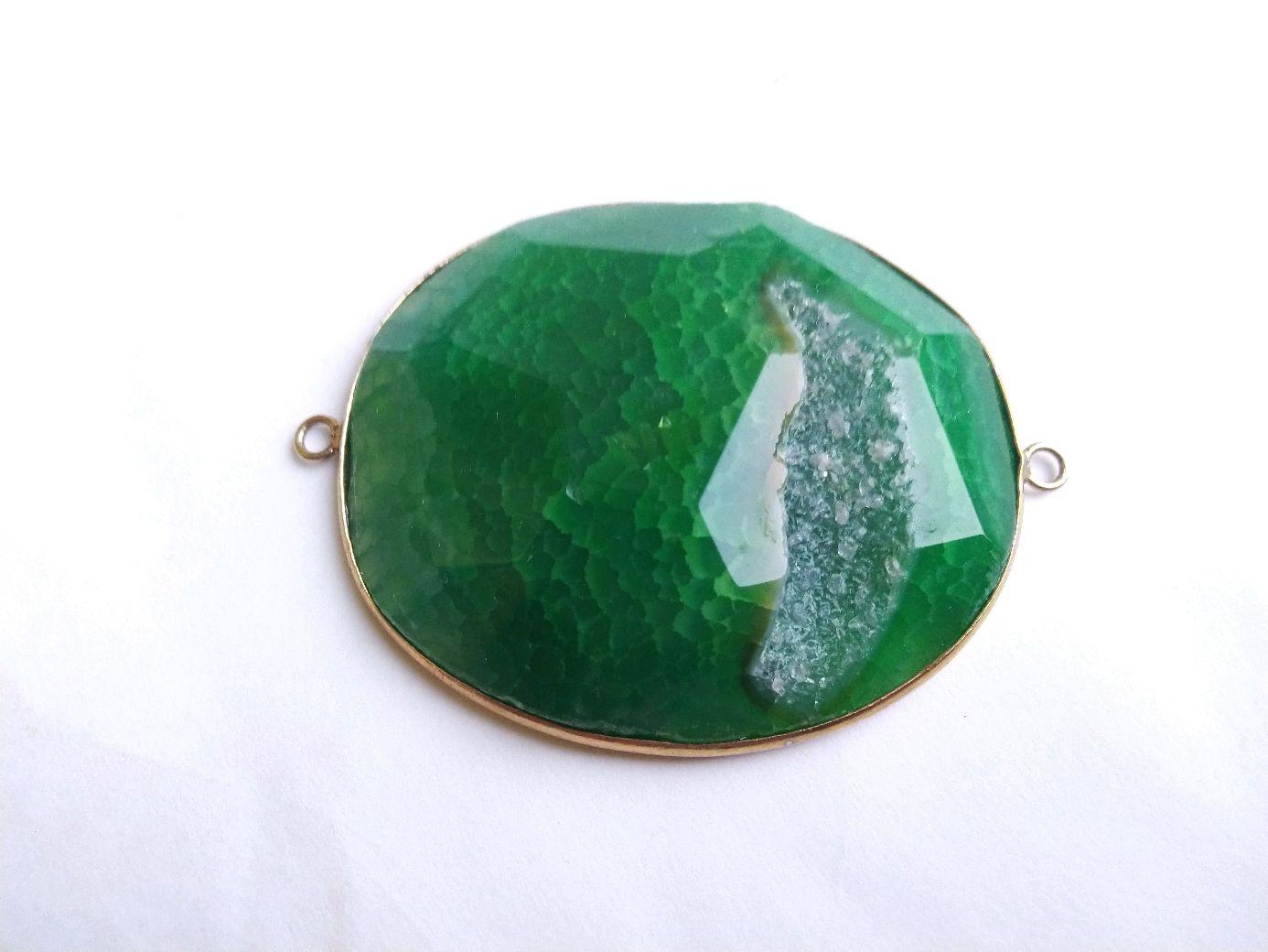 Крупный коннектор с зелёным агатом, Бусины, Самара,  Фото №1