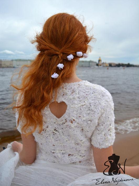"""Блузки ручной работы. Ярмарка Мастеров - ручная работа. Купить """"первая любовь  """". Handmade. Белый, валяная одежда, свадьба"""