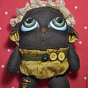 Куклы и игрушки ручной работы. Ярмарка Мастеров - ручная работа медвежонок Мисюня Минзе. Handmade.