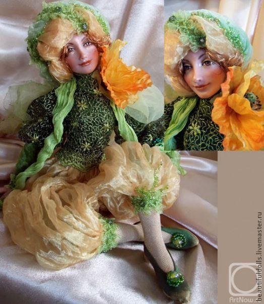 """Коллекционные куклы ручной работы. Ярмарка Мастеров - ручная работа. Купить Коллекционная кукла """"Чудесный Мак"""". Handmade. Живая кукла"""
