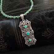 Украшения handmade. Livemaster - original item Pendant vintage silver Ethiopian opal jade necklace beads. Handmade.