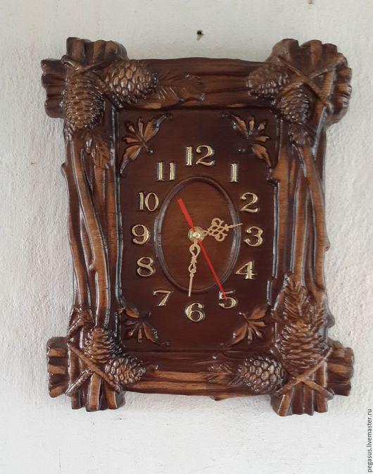 Часы для дома ручной работы. Ярмарка Мастеров - ручная работа. Купить Часы для дома настенные Шишки 2.. Handmade. Часы