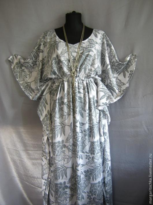 Платья ручной работы. Ярмарка Мастеров - ручная работа. Купить Платье свободное длинное. Handmade. Пляжное платье, легкое платье