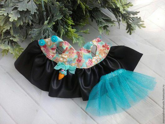 Одежда для кукол ручной работы. Ярмарка Мастеров - ручная работа. Купить Платье для Блайз или Айси. Handmade. Комбинированный, фурнитура