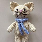 Куклы и игрушки ручной работы. Ярмарка Мастеров - ручная работа Кот вязаный. Handmade.
