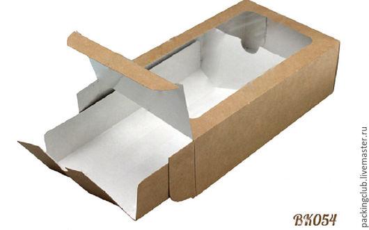 Упаковка ручной работы. Ярмарка Мастеров - ручная работа. Купить Коробочка-пенал  ЭКО на 12 макарон 18х10,5х5,5см. Handmade.