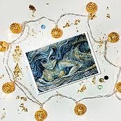 Открытки handmade. Livemaster - original item Nina, author`s postcard. Handmade.