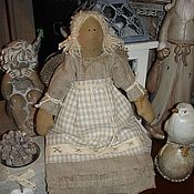 Куклы и игрушки ручной работы. Ярмарка Мастеров - ручная работа Льняной ангел 4. Handmade.