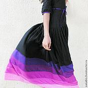 Одежда ручной работы. Ярмарка Мастеров - ручная работа Длинное чёрное платье. Handmade.