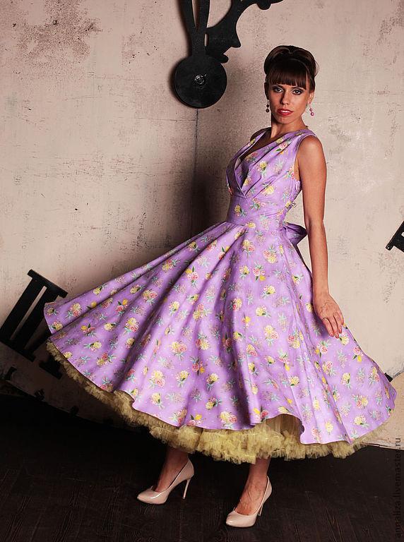 Купить вечернее платье стиль 50-х