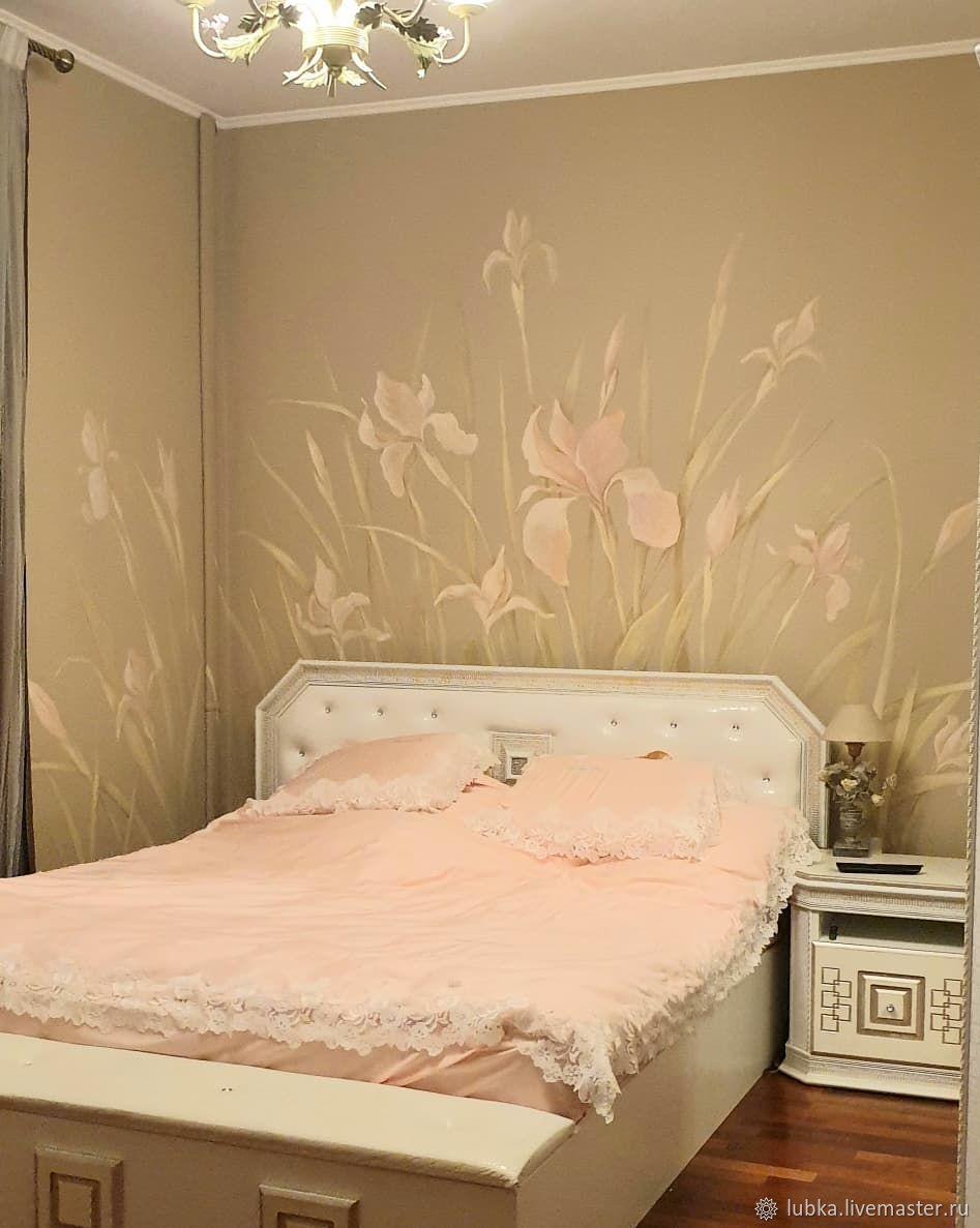Роспись в спальне Ирисы, Декор, Москва, Фото №1