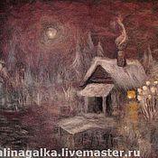 """Картины и панно ручной работы. Ярмарка Мастеров - ручная работа Валяное панно """"У озера..."""". Handmade."""