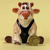 Для дома и интерьера handmade. Livemaster - original item Bull Athlete porcelain figurine. Handmade.