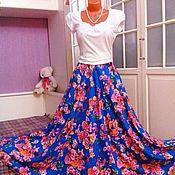 Одежда ручной работы. Ярмарка Мастеров - ручная работа Штапельная юбка в пол Анабель. Handmade.