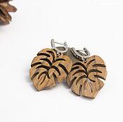 Украшения handmade. Livemaster - original item Earrings-leaves from the tree to hamasaku. Handmade.