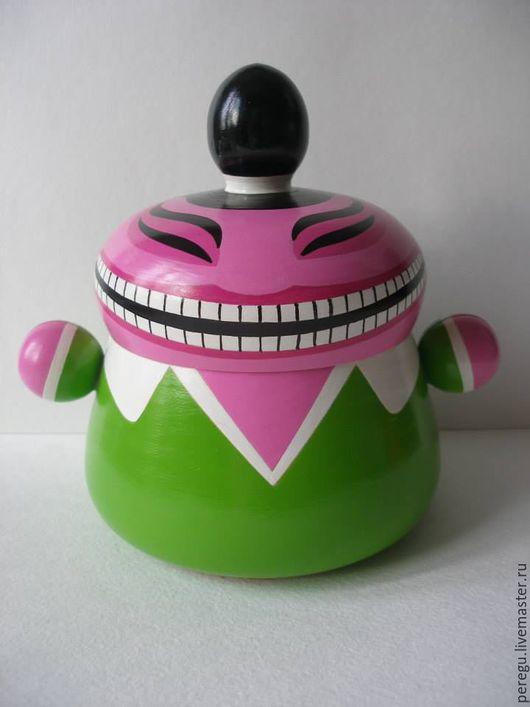 Конфетницы, сахарницы ручной работы. Ярмарка Мастеров - ручная работа. Купить Мистер Чи-ёмкость для чая. Handmade. Ярко-зелёный