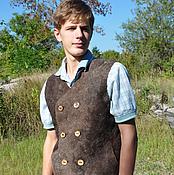 "Одежда handmade. Livemaster - original item Felted vest mens ""Andrew"". Handmade."
