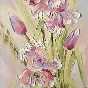 Картины и панно handmade. Livemaster - original item irises. Handmade.