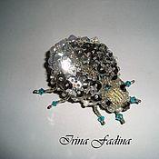 Украшения handmade. Livemaster - original item Brooch-beetle