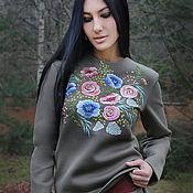 """Одежда handmade. Livemaster - original item Вышитый женский костюм """"Спорт-шик"""" ручная вышивка. Handmade."""