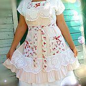 Одежда handmade. Livemaster - original item Apron apron in the style of shabby chic 5. Handmade.