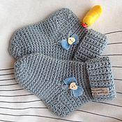 Работы для детей, ручной работы. Ярмарка Мастеров - ручная работа Детские носочки вязаные крючком. Handmade.
