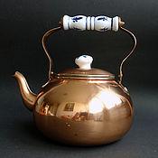 Винтаж ручной работы. Ярмарка Мастеров - ручная работа Старый медный чайник из Германии  2. Handmade.