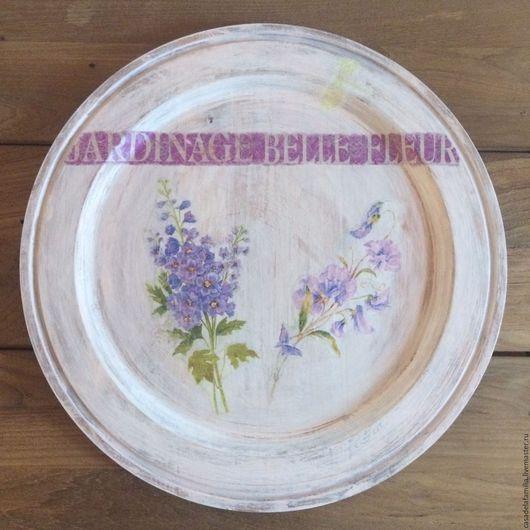 Кухня ручной работы. Ярмарка Мастеров - ручная работа. Купить Поднос-тарелка. Handmade. Поднос, для стола, красная птица